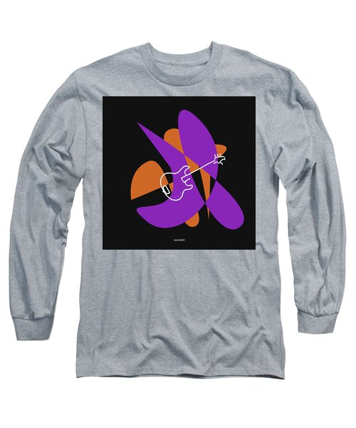 Electric Bass In Purple Long Sleeve T-Shirt