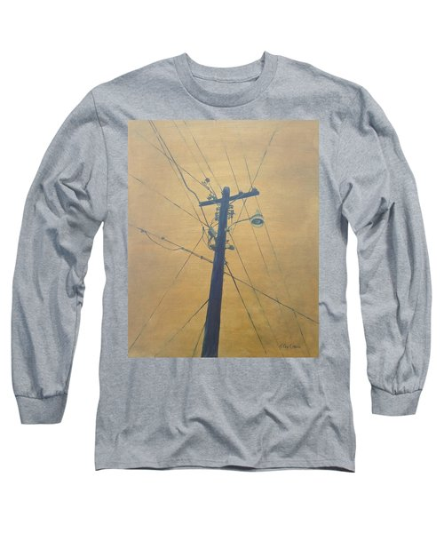 Electrified Long Sleeve T-Shirt by T Fry-Green