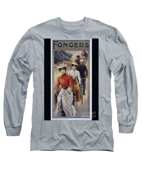 Elegant Fongers Vintage Stylish Cycle Poster Long Sleeve T-Shirt