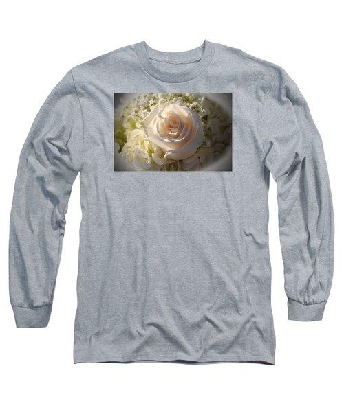 Elegant White Roses Long Sleeve T-Shirt by Cynthia Guinn