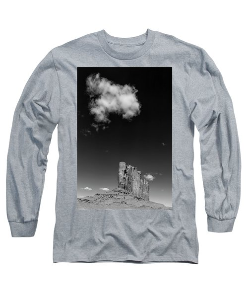 Elephant Butte In Black And White Long Sleeve T-Shirt by David Cote