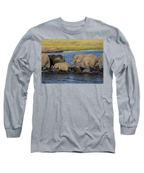 Elephant Crossing Long Sleeve T-Shirt