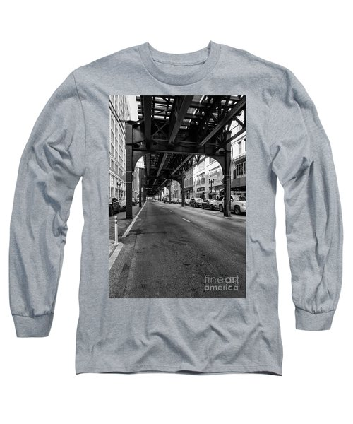 Elevated Train Track The Loop In Chicago, Il Long Sleeve T-Shirt