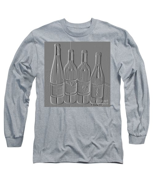 Embossed Wine Bottles Long Sleeve T-Shirt