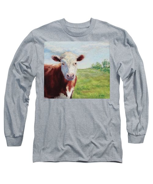 Long Sleeve T-Shirt featuring the painting Emmett by Vikki Bouffard