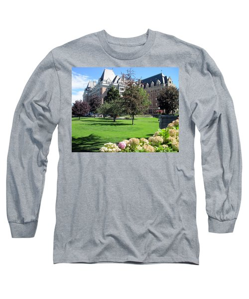 Empress Hotel Long Sleeve T-Shirt by Betty Buller Whitehead