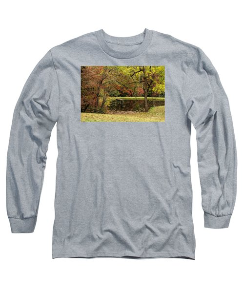 Empty Dock Long Sleeve T-Shirt by Barbara Bowen