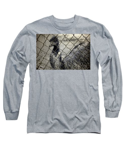 Emu At The Zoo Long Sleeve T-Shirt by Luke Moore