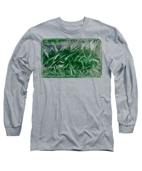 Encaustic Green Foliage With Some Blue Long Sleeve T-Shirt