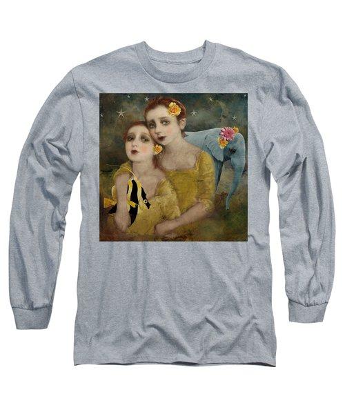Enchanted Elephant Long Sleeve T-Shirt by Lisa Noneman