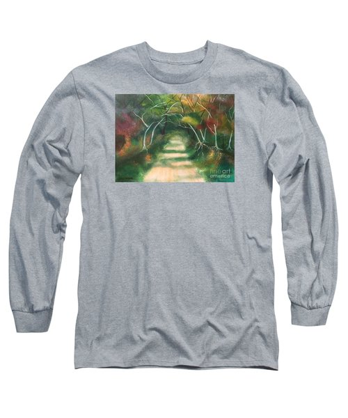 Long Sleeve T-Shirt featuring the painting Enchanted Forest by Denise Tomasura