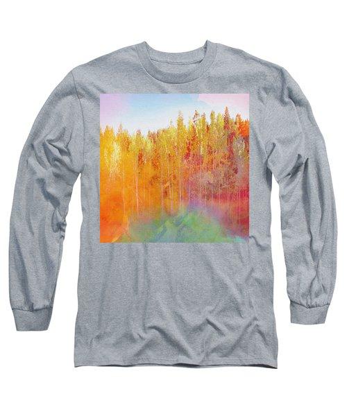 Long Sleeve T-Shirt featuring the digital art Enchanted Scenery #3 by Klara Acel