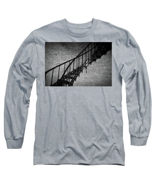 Enchanted Staircase II - Currituck Lighthouse Long Sleeve T-Shirt by David Sutton