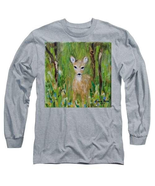 Long Sleeve T-Shirt featuring the painting Enchantment by Judith Rhue