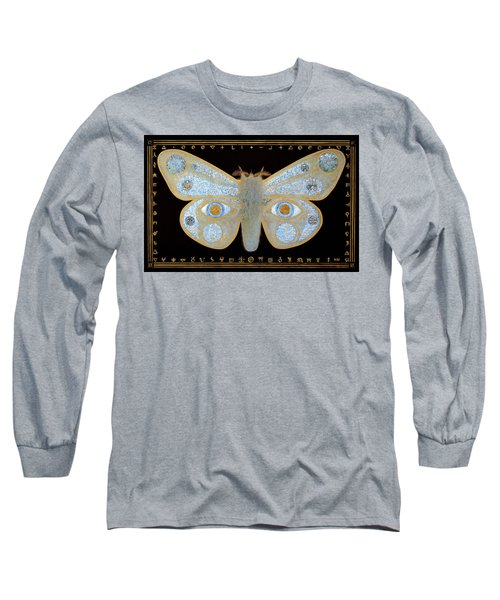 Long Sleeve T-Shirt featuring the painting Encryption by Laurie Stewart