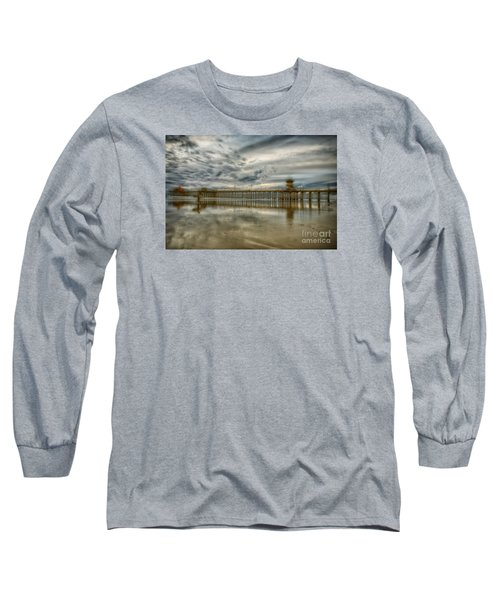 End Of Sunset Surf At Pier Long Sleeve T-Shirt
