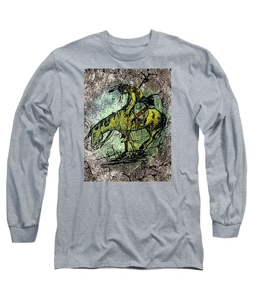 End Of The Trail 2 Long Sleeve T-Shirt by Ayasha Loya