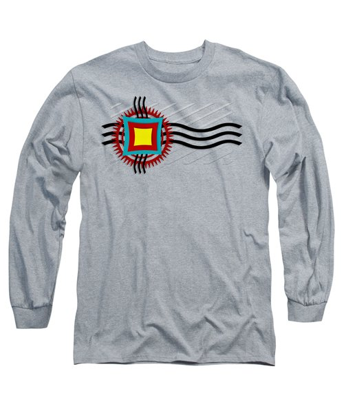 Long Sleeve T-Shirt featuring the digital art Energy Flow by Shawna Rowe