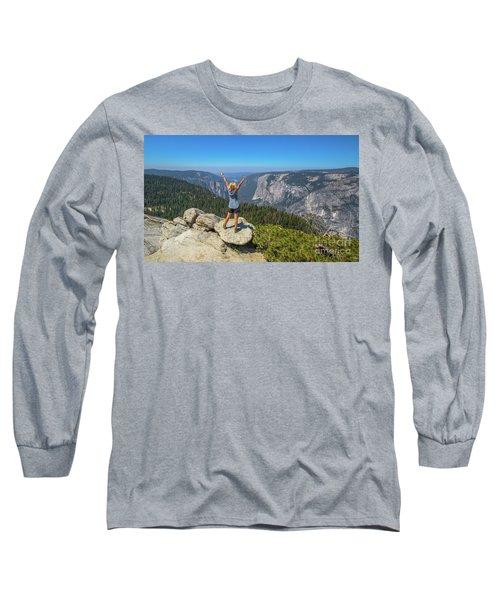 Enjoying At Yosemite Summit Long Sleeve T-Shirt