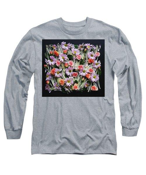 Enoki Mushroom Textures Long Sleeve T-Shirt