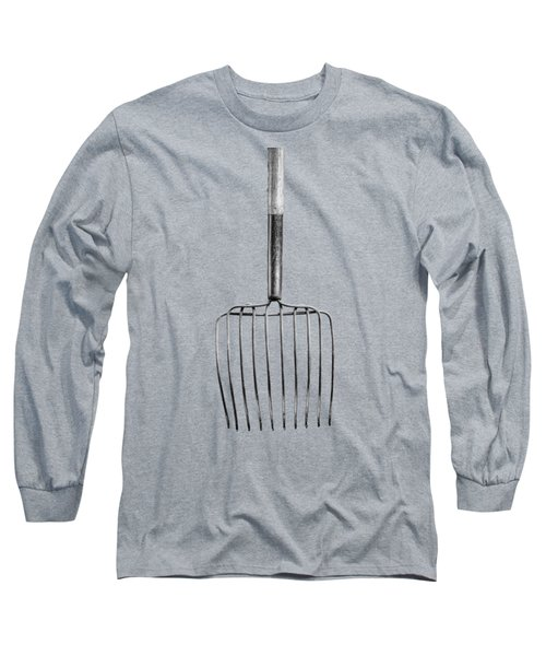 Ensilage Fork Down Long Sleeve T-Shirt by YoPedro