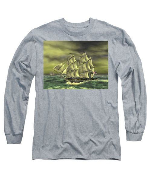 Long Sleeve T-Shirt featuring the painting Ensuring Liberty by Dave Luebbert