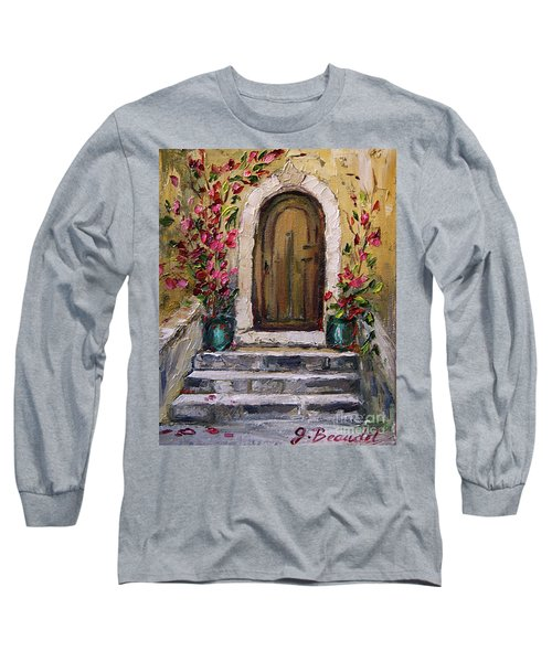 Long Sleeve T-Shirt featuring the painting Enter Here by Jennifer Beaudet