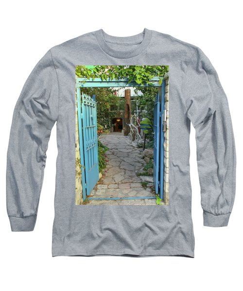 Long Sleeve T-Shirt featuring the photograph Entrance Door To The Artist by Yoel Koskas