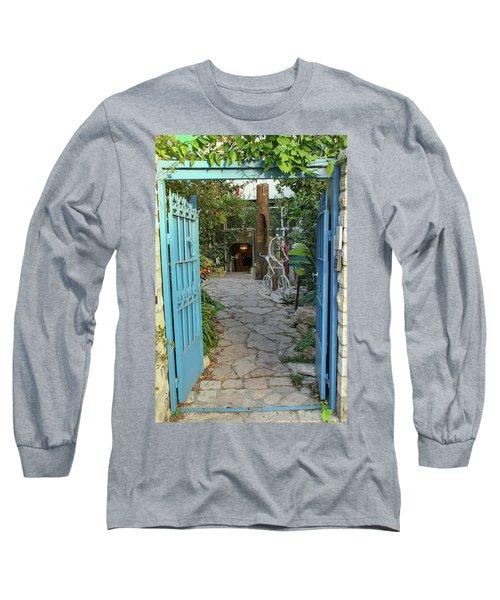 Entrance Door To The Artist Long Sleeve T-Shirt by Yoel Koskas