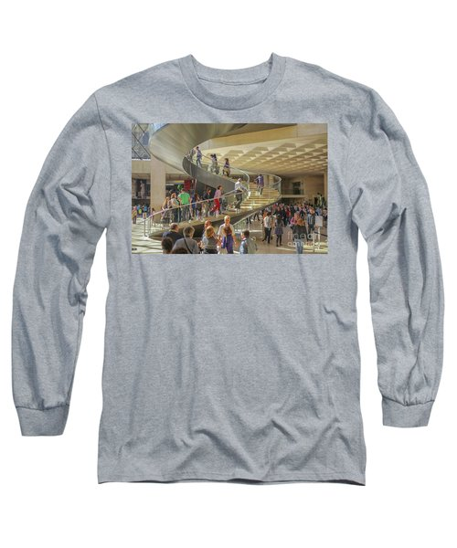 Entry Hall In The Louvre Museum Long Sleeve T-Shirt