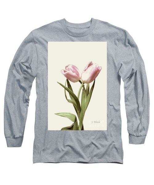 Entwined Tulips Long Sleeve T-Shirt by Jeannie Rhode