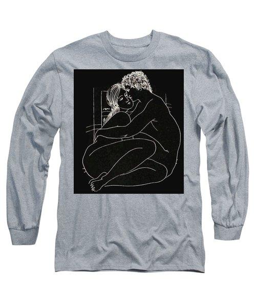 Long Sleeve T-Shirt featuring the digital art Enveloped by Kim Kent