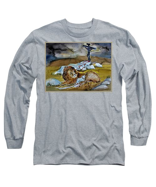 Long Sleeve T-Shirt featuring the painting Ephesians 2 13 by Mindy Newman