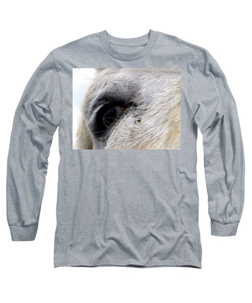 Long Sleeve T-Shirt featuring the photograph Equine Eye by Chris Mercer