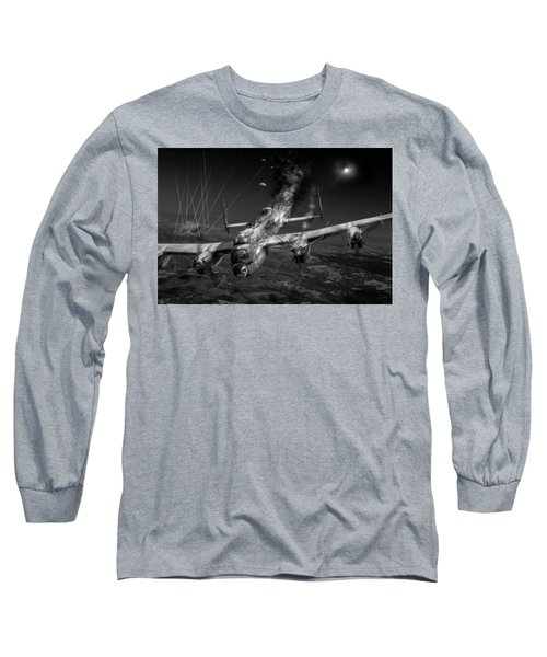Escape At Mailly Black And White Version Long Sleeve T-Shirt