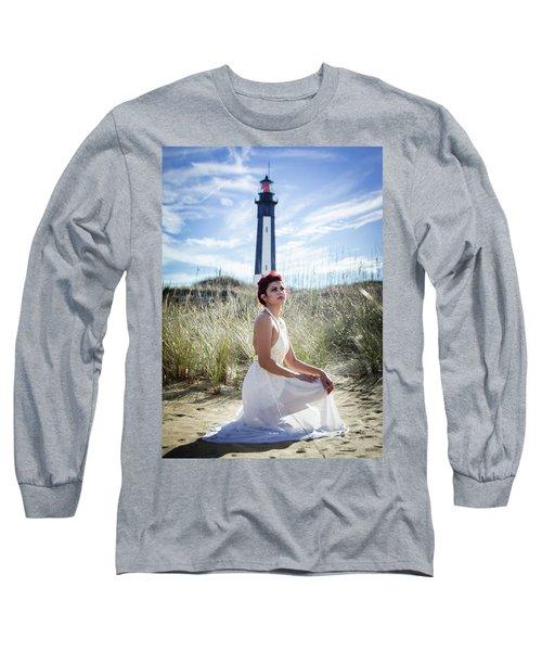 Ethereal Gaze Long Sleeve T-Shirt by Stefanie Silva