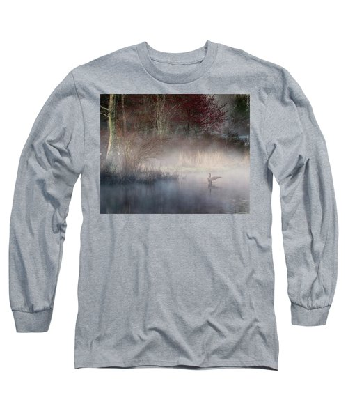 Long Sleeve T-Shirt featuring the photograph Ethereal Goose by Bill Wakeley