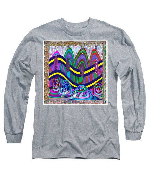 Ethnic Wedding Decorations Abstract Usring Fabrics Ribbons Graphic Elements Long Sleeve T-Shirt by Navin Joshi