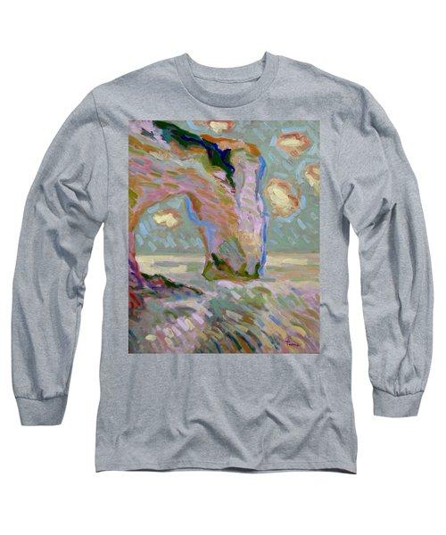 Etretat -1 Long Sleeve T-Shirt by Pierre Van Dijk