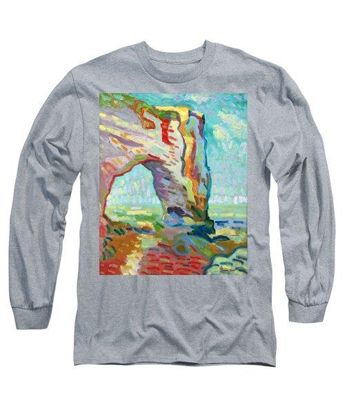 Etretat  Long Sleeve T-Shirt by Pierre Van Dijk
