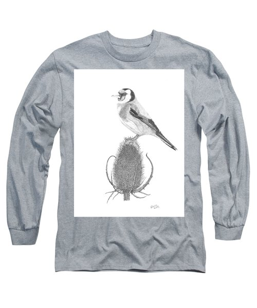 European Goldfinch Long Sleeve T-Shirt by Patricia Hiltz