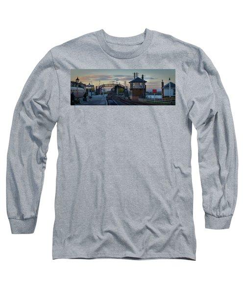 Evening At Bo'ness Station Long Sleeve T-Shirt