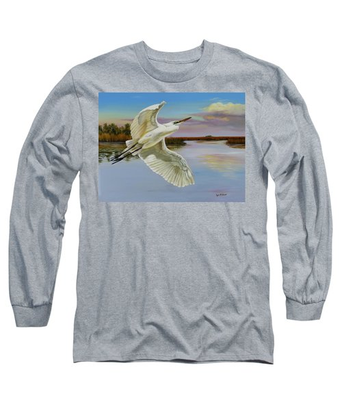 Evening At Campbell's Bayou Long Sleeve T-Shirt