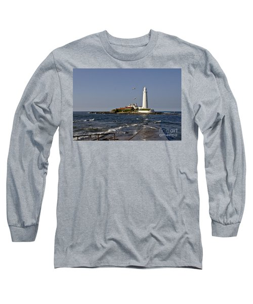 Evening At St. Mary's Lighthouse Long Sleeve T-Shirt