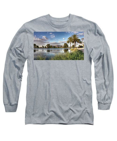 Long Sleeve T-Shirt featuring the photograph Evening Fishing by Lynn Geoffroy