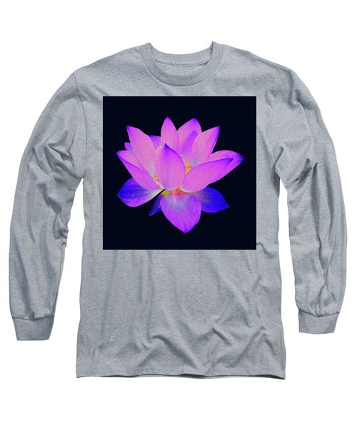 Evening Purple Lotus  Long Sleeve T-Shirt