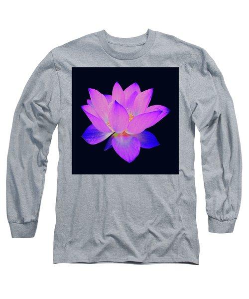 Evening Purple Lotus  Long Sleeve T-Shirt