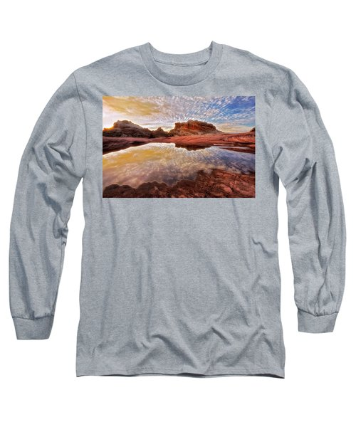 Evening Reflections  Long Sleeve T-Shirt by Nicki Frates