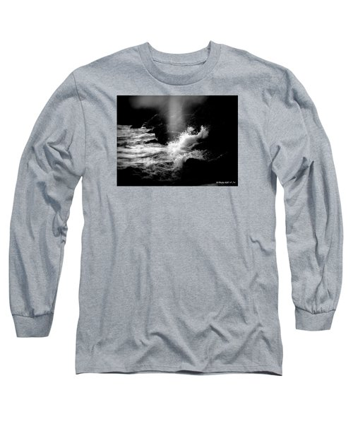 Evening Splash In Bw Long Sleeve T-Shirt