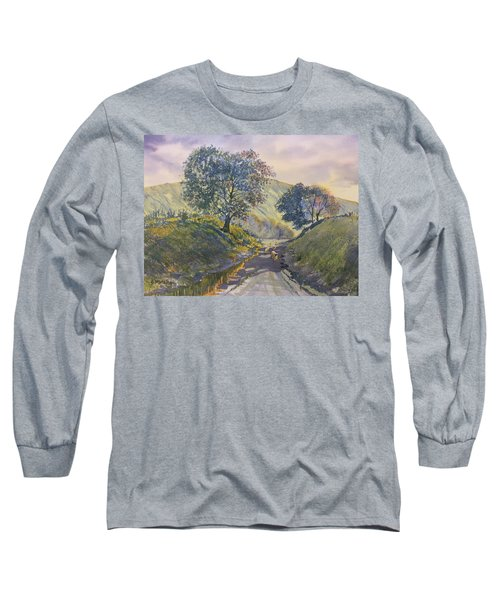 Evening Stroll In Millington Dale Long Sleeve T-Shirt